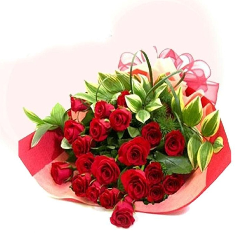 valentinegiftidea  bouquet of  romantic red roses for valentine day, Beautiful flower