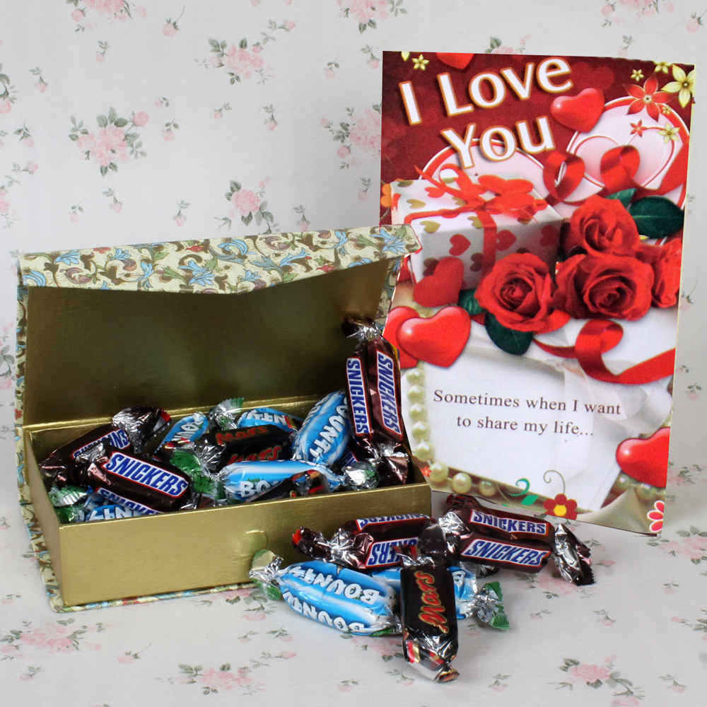 Imported Miniature Chocolate Hamper for Valentines Day