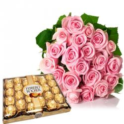 Valentine Flowers With Chocolates