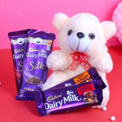 Cadbury Dairy Milk Chocolates with Teddy Bear