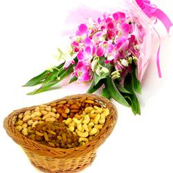 Valentine Flowers With Dry Fruits