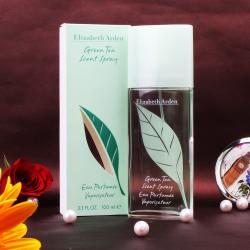 Elizabeth Arden Green Tea Scent Spray Perfume For Her with Complimentary Love Card
