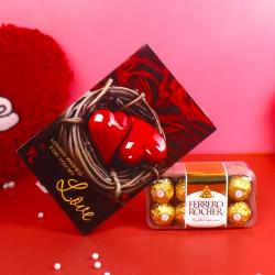 Greeting Card with Ferrero Rocher Pack
