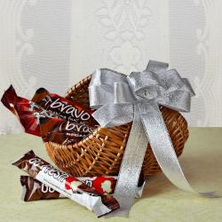 Imported Chocolate in a Basket for New Delhi