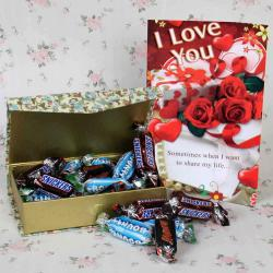 Imported Miniature Chocolate Hamper for Valentines Day for Madurai