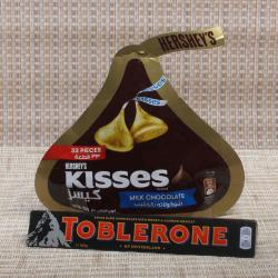Kisses Chocolate with Toblerone Chocolate