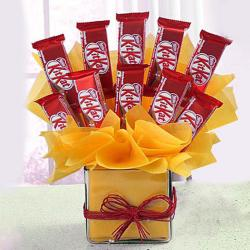 Kit Kat Chocolate Vase