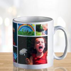 Photo Collage Personalized Coffee Mug for Faizabad