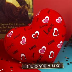 Soft Love Heart with I Love You Chocolate Bar
