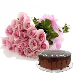 Valentine Flowers With Cakes