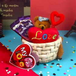 Teddy Love Silk Choco Basket