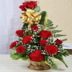Valentine Romance Basket  for Ambala