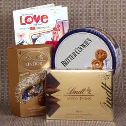 Valentines Day Imported Chocolates and Cookies Combo