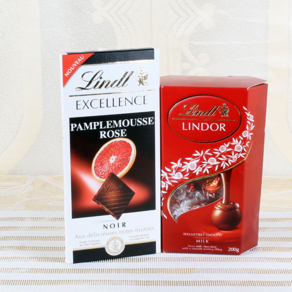 Truffles Lindt Lindor Chocolate with Lindt Excellence Pamplemousse
